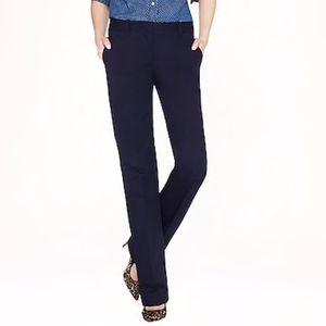 J Crew Black Cafe Trouser Cotton Spandex